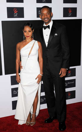 barker: Will Smith and Jada Pinkett Smith at the 2nd Annual Diamond Ball held at the Barker Hanger in Santa Monica, USA on December 10, 2015.