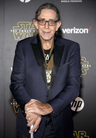Peter Mayhew at the World premiere of Star Wars: The Force Awakens held at the TCL Chinese Theatre in Hollywood, USA on December 14, 2015.