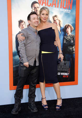 christina: Christina Applegate and David Faustino at the Los Angeles premiere of Vacation held at the Regency Village Theatre in Westwood, USA on July 27, 2015. Credit: Lumeimages.com