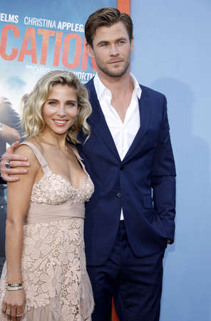 Chris Hemsworth and Elsa Pataky at the Los Angeles premiere of Vacation held at the Regency Village Theatre in Westwood, USA on July 27, 2015. Editorial
