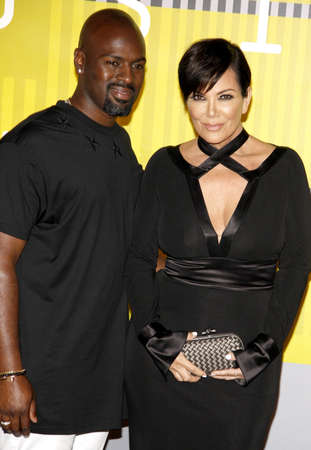 mtv: LOS ANGELES, CA - AUGUST 30, 2015: Kris Jenner and Corey Gamble at the 2015 MTV Video Music Awards held at the Microsoft Theater in Los Angeles, USA on August 30, 2015.