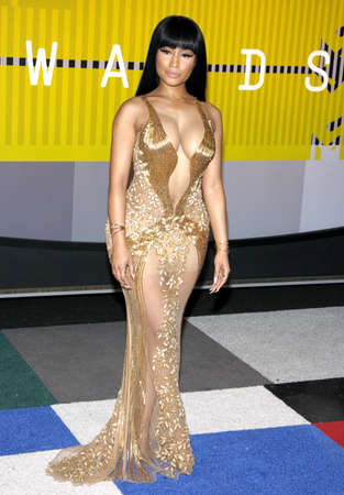 mtv: LOS ANGELES, CA - AUGUST 30, 2015: Nicki Minaj at the 2015 MTV Video Music Awards held at the Microsoft Theater in Los Angeles, USA on August 30, 2015. Editorial