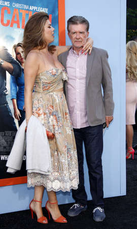 Alan Thicke and Tanya Callau at the Los Angeles premiere of Vacation held at the Regency Village Theatre in Westwood, USA on July 27, 2015.