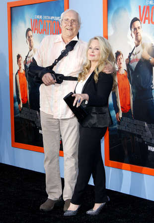 Chevy Chase and Beverly DAngelo at the Los Angeles premiere of Vacation held at the Regency Village Theatre in Westwood, USA on July 27, 2015.