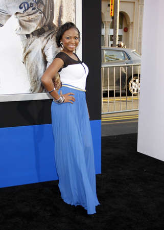 premiere: Naturi Naughton at the 42 Los Angeles Premiere at TCL Chinese Theater on April 9, 2013 in Hollywood, California.
