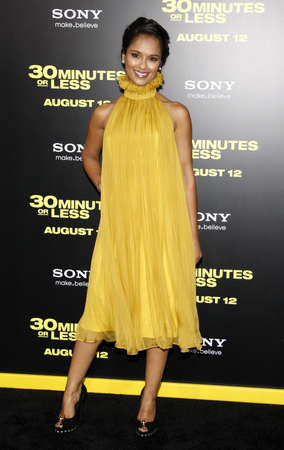 premiere: Dilshad Vadsaria at the Los Angeles premiere of 30 Minutes Or Less held at the Mann Village Theater, Los Angeles.
