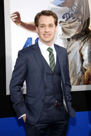 hollywood   california: T.R. Knight at the Los Angeles premiere of 42 held at the TCL Chinese Theatre in Hollywood, California, United States on April 9, 2013.