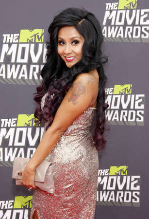 premieres: Nicole Polizzi at the 2013 MTV Movie Awards held at the Sony Pictures Studios in Los Angeles, USA on April 14, 2013.