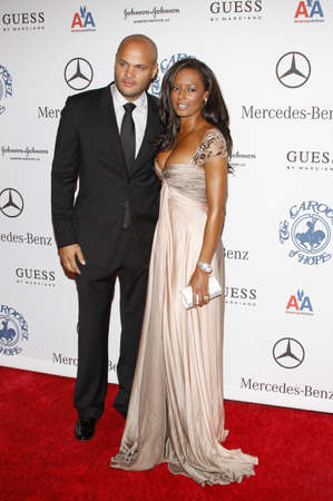 BEVERLY HILLS, CA - OCTOBER 25, 2008: Stephen Belafonte and Mel B at the 30th Anniversary Carousel Of Hope Ball held at the Beverly Hilton Hotel in Beverly Hills, USA on October 25, 2008. Editorial