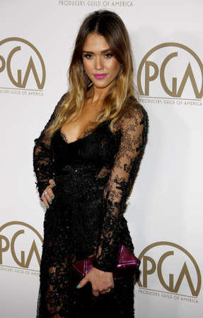 guild: Jessica Alba at the 24th Annual Producers Guild Awards held at the Beverly Hilton Hotel in Beverly Hills, USA on January 26, 2013.