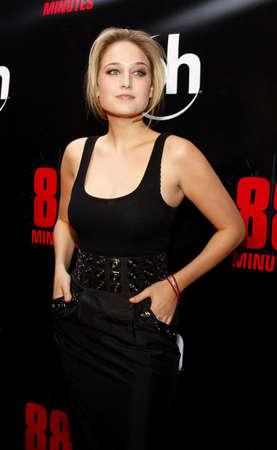 Leelee Sobieski attends the World Premiere of 88 Minutes held at the Planet Hollywood Casino and Resort in Las Vegas, Nevada, United States on April 16, 2008.