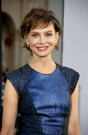 premiere: Calista Flockhart at the 42 Los Angeles Premiere at TCL Chinese Theater on April 9, 2013 in Hollywood, California.