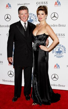 BEVERLY HILLS, CA - OCTOBER 25, 2008: Alan Thicke and Tanya Callau at the 30th Anniversary Carousel Of Hope Ball held at the Beverly Hilton Hotel in Beverly Hills, USA on October 25, 2008. Editöryel