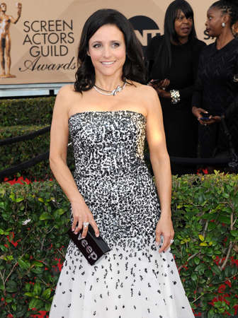 guild: Julia Louis-Dreyfus at the 22nd Annual Screen Actors Guild Awards held at the Shrine Auditorium in Los Angeles, USA on January 30, 2016.