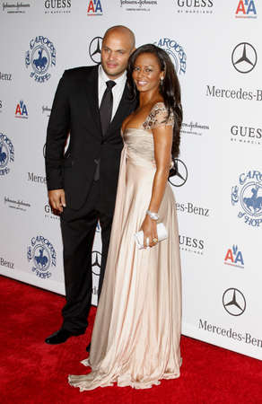 b ball: BEVERLY HILLS, CA - OCTOBER 25, 2008: Stephen Belafonte and Mel B at the 30th Anniversary Carousel Of Hope Ball held at the Beverly Hilton Hotel in Beverly Hills, USA on October 25, 2008. Editorial