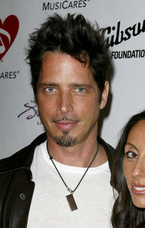 Chris Cornell attends the 3rd Annual MusiCares Map Fund Benefit Concert held at the Henry Fonda Music Box Theater in Hollywood, California, on May 11, 2007.