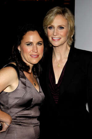 guild: Jane Lynch and Lara Embry at the 22nd Annual Producers Guild Awards held at the Beverly Hilton hotel in Beverly Hills, USA on January 22, 2011.