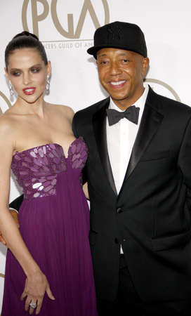 guild: Russell Simmons and Hana Nitsche at the 24th Annual Producers Guild Awards held at the Beverly Hilton Hotel in Beverly Hills, USA on January 26, 2013.