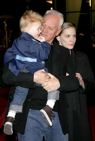 flux: HOLLYWOOD, CA - DECEMBER 01, 2005: Malcolm McDowell at the World premiere of Aeon Flux at the Cinerama Dome in Hollywood, USA on December 1, 2005.