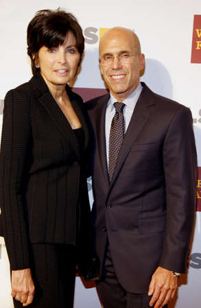 jeffrey: Marilyn Katzenberg and Jeffrey Katzenberg at the 8th Annual GLSEN Respect Awards held at the Beverly Hills Hotel in Beverly Hills on October 5, 2012.
