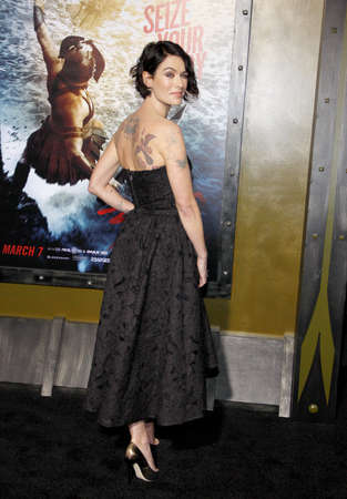 lena: Lena Headey at the Los Angeles premiere of 300: Rise Of An Empire held at the TCL Chinese Theatre in Los Angeles, United States, 040314. Editorial