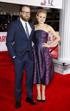 leonard: Joshua Leonard and Alison Pill at the World premiere of Hail, Caesar! held at the Regency Village Theatre in Westwood, USA on February 1, 2016. Editorial