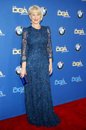 premieres: Helen Mirren at the 66th Annual Directors Guild Of America Awards held at the Hyatt Regency Century Plaza Hotel in Los Angeles on January 25, 2014 in Los Angeles, California.