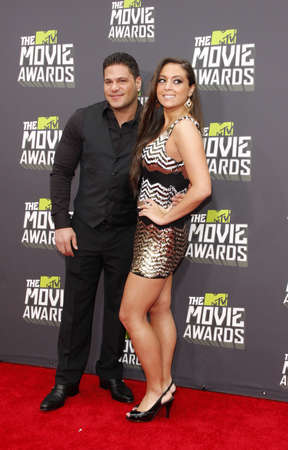 premieres: Sammi Sweetheart Giancola and Ronnie Ortiz-Magro at the 2013 MTV Movie Awards held at the Sony Pictures Studios in Los Angeles, USA on April 14, 2013.