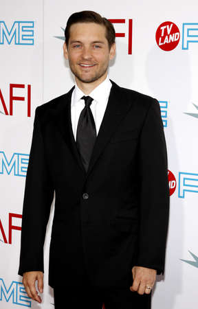 culver city: Tobey Maguire at the 37th AFI Lifetime Achievement Award: A Tribute to Michael Douglas held at the Sony Pictures Studios in Culver City on June 11, 2009. Editorial