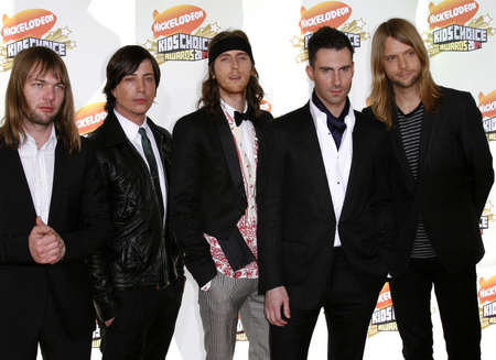 maroon: Maroon 5 attends the Nickelodeons 20th Annual Kids Choice Awards held at the Pauley Pavilion - UCLA in Westwood, California on March 31, 2007.