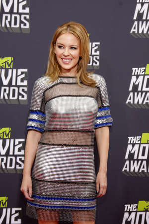 Kylie Minogue at the 2013 MTV Movie Awards held at the Sony Pictures Studios in Los Angeles, USA on April 14, 2013.