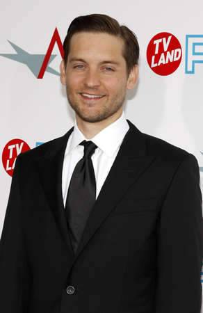Tobey Maguire at the 37th AFI Lifetime Achievement Award: A Tribute to Michael Douglas held at the Sony Pictures Studios in Culver City on June 11, 2009. Editorial