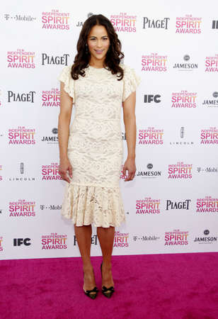 patton: Paula Patton at the 2013 Film Independent Spirit Awards held at the Santa Monica Beach in Los Angeles, USA on February 23, 2013.