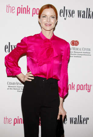 santa cross: SANTA MONICA, CA - SEPTEMBER 12, 2009: Marcia Cross at the 5th Annual Pink Party held at the La Cachette Bistro in Santa Monica, USA on September 12, 2009.