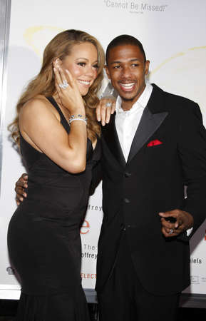 nick: HOLLYWOOD, CA - NOVEMBER 01, 2009. Mariah Carey and Nick Cannon at the AFI FEST 2009 Screening of Precious held at the Graumans Chinese Theater in Hollywood, USA on November 1, 2009. Editorial