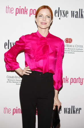 santa cross: Marcia Cross at the 5th Annual Pink Party held at the La Cachette Bistro in Santa Monica, USA on September 12, 2009. Editorial