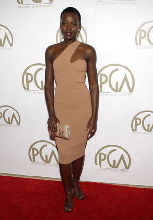 guild: Lupita Nyongo at the 25th Annual Producers Guild Awards held at the Beverly Hilton Hotel in Los Angeles, USA on January 19, 2014. Editorial