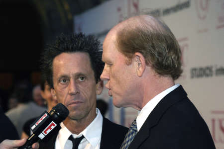grazer: LOS ANGELES, CA - SEPTEMBER 26, 2004: Brian Grazer and Ron Howard at the 75th Diamond Jubilee Celebration for the USC School of Cinema-Television held at the USCs Bovard Auditorium in Los Angeles, USA on September 26, 2004.