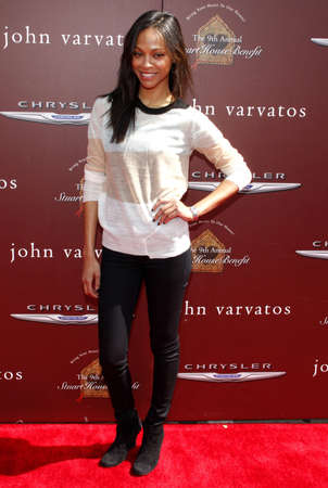 west hollywood: Zoe Saldana at the 9th Annual John Varvatos Stuart House Benefit held at the Varvatos Store in West Hollywood on March 11, 2012.