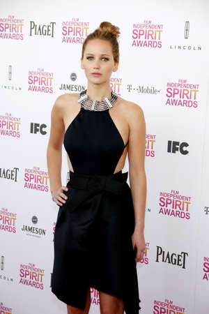 jennifer: Jennifer Lawrence at the 2013 Film Independent Spirit Awards held at the Santa Monica Beach in Los Angeles, United States, 230213.
