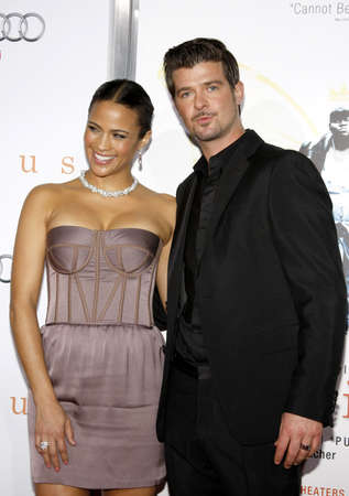 patton: HOLLYWOOD, CA - NOVEMBER 01, 2009. Paula Patton and Robin Thicke at the AFI FEST 2009 Screening of Precious held at the Graumans Chinese Theater in Hollywood, USA on November 1, 2009.