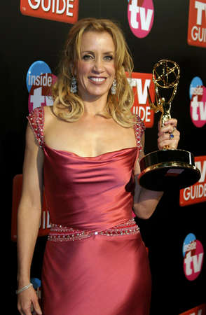 roosevelt hotel: Felicity Huffman attends the 57th Annual Emmy Awards TV Guide and Inside TV After Party held at the Roosevelt Hotel in Hollywood, California, on September 18, 2005.