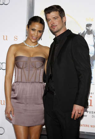 paula: HOLLYWOOD, CA - NOVEMBER 01, 2009. Paula Patton and Robin Thicke at the AFI FEST 2009 Screening of Precious held at the Graumans Chinese Theater in Hollywood, USA on November 1, 2009.