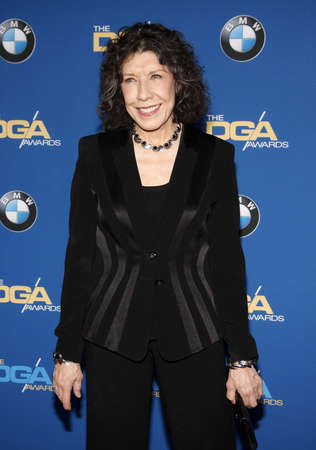 Lily Tomlin at the 68th Annual Directors Guild Of America Awards held at the Hyatt Regency Century Plaza in Los Angeles, USA on February 6, 2016. 免版税图像 - 51989347