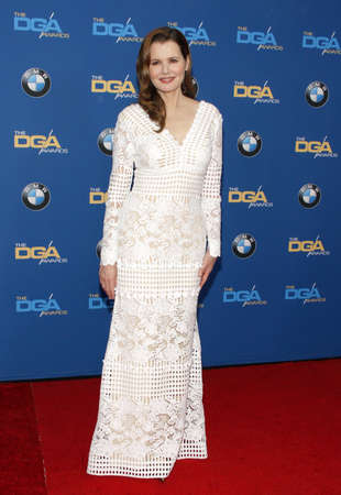 guild: Geena Davis at the 68th Annual Directors Guild Of America Awards held at the Hyatt Regency Century Plaza in Los Angeles, USA on February 6, 2016.