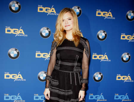 Jennifer Jason Leigh at the 68th Annual Directors Guild Of America Awards held at the Hyatt Regency Century Plaza in Los Angeles, USA on February 6, 2016. 免版税图像 - 51989479