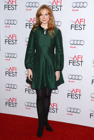 molly: Molly Quinn at the AFI FEST 2014 Gala Premiere of The Homesman held at the Dolby Theatre in Los Angeles, USA on November 11, 2014.