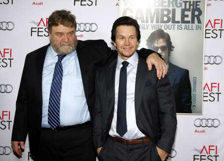 gambler: John Goodman and Mark Wahlberg at the AFI FEST 2014 Gala Premiere of The Gambler held at the Dolby Theatre in Los Angeles, USA on November 11, 2014.