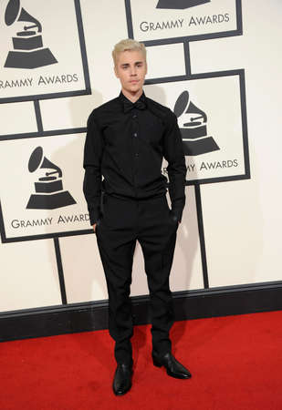 grammy: Justin Bieber at he 58th GRAMMY Awards held at the Staples Center in Los Angeles, USA on February 15, 2016.