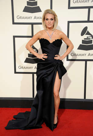 underwood: Carrie Underwood at he 58th GRAMMY Awards held at the Staples Center in Los Angeles, USA on February 15, 2016.